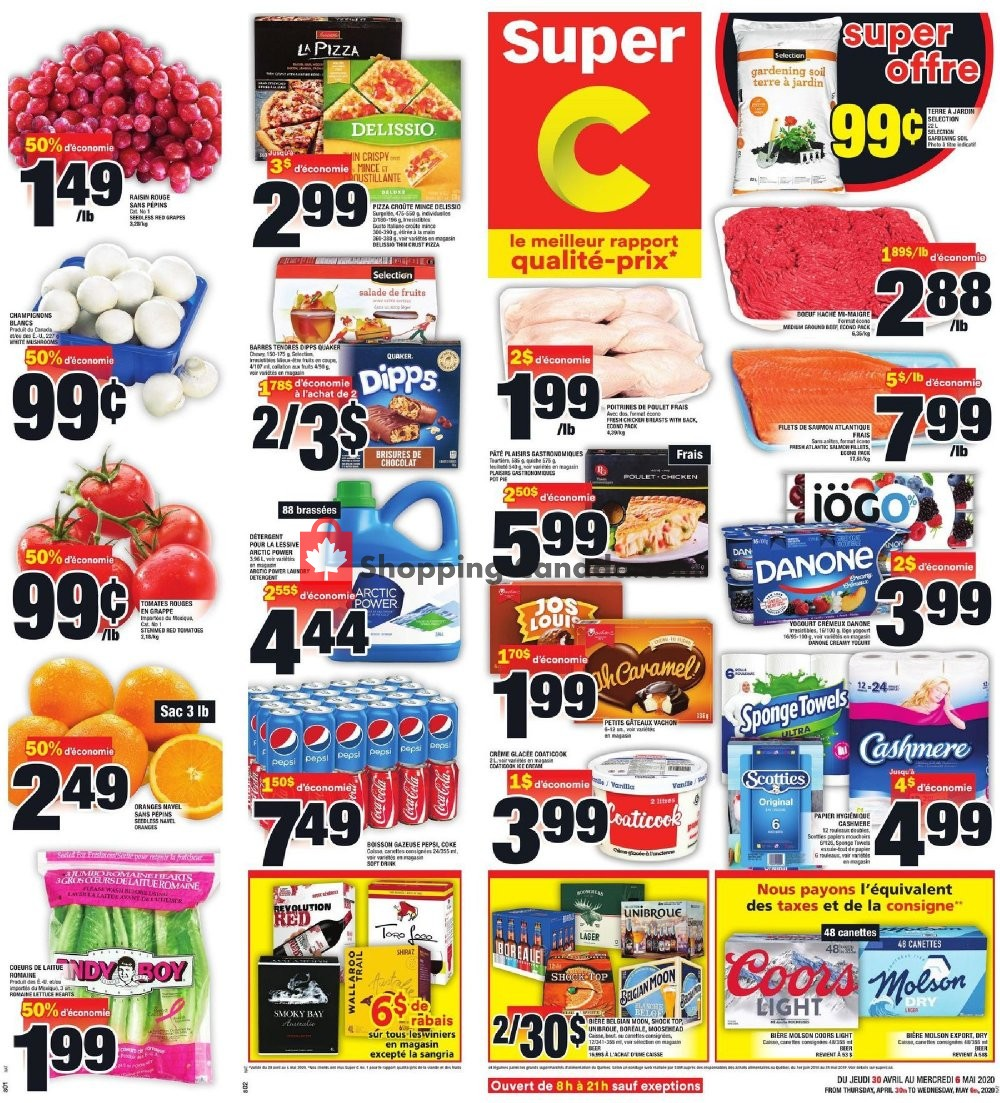 Flyer Super C Canada - from Thursday April 30, 2020 to Wednesday May 6, 2020