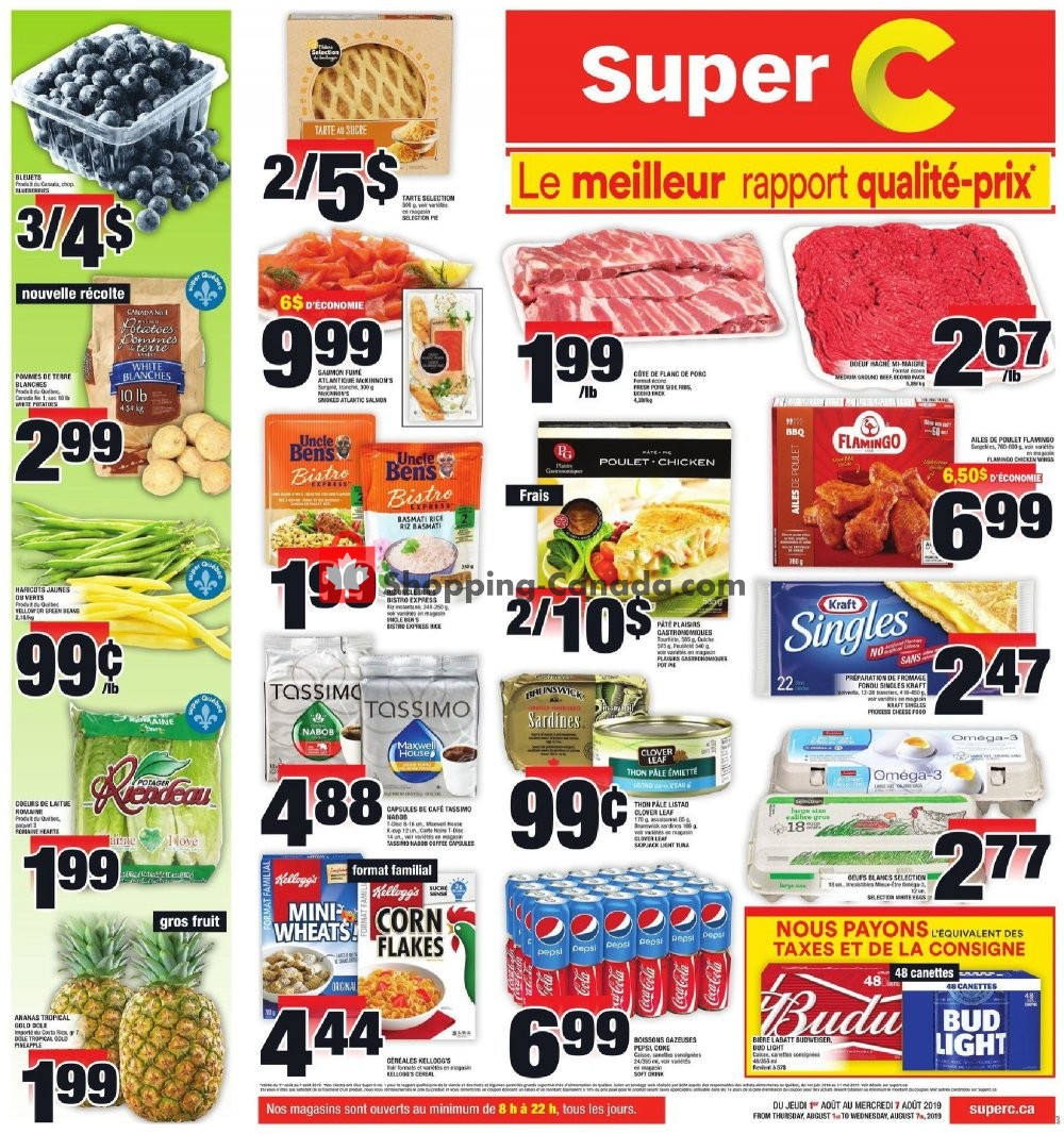 Flyer Super C Canada - from Thursday August 1, 2019 to Wednesday August 7, 2019