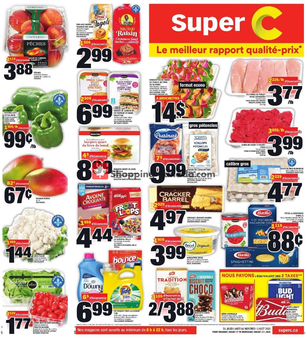 Flyer Super C Canada - from Thursday August 6, 2020 to Wednesday August 12, 2020