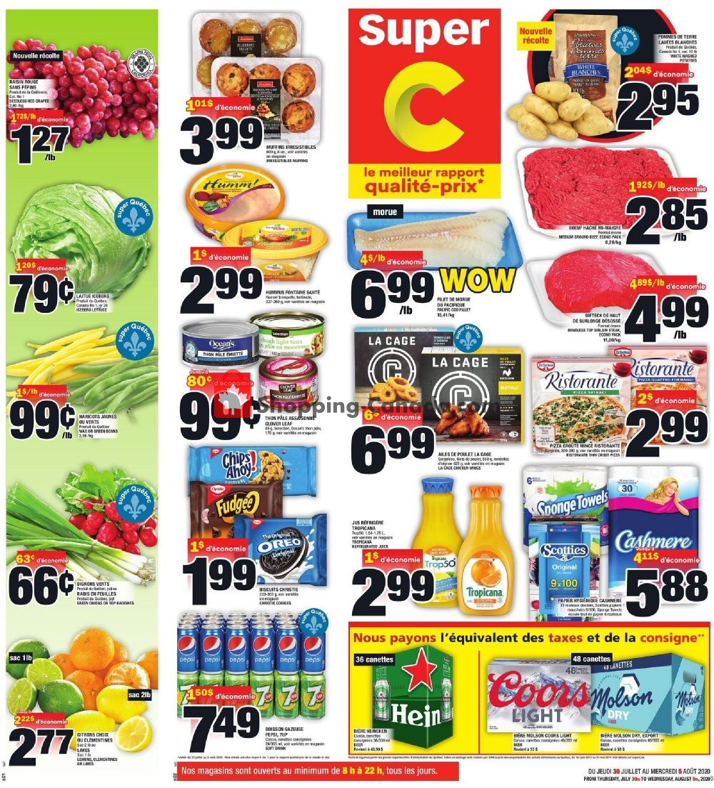 Flyer Super C Canada - from Thursday July 30, 2020 to Wednesday August 5, 2020