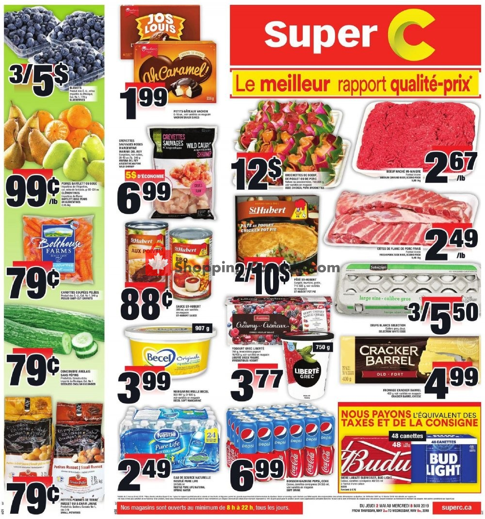 Flyer Super C Canada - from Thursday May 2, 2019 to Wednesday May 8, 2019