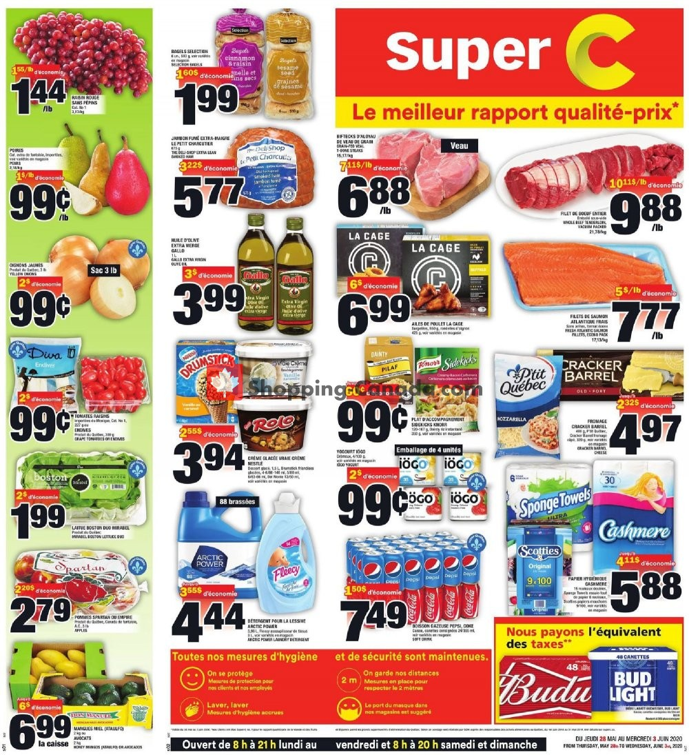 Flyer Super C Canada - from Thursday May 28, 2020 to Wednesday June 3, 2020