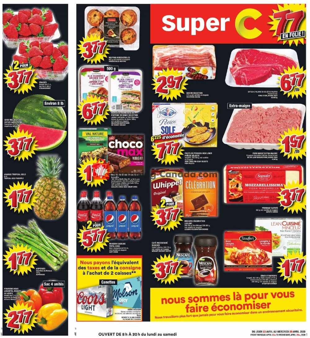 Flyer Super C Canada - from Thursday April 23, 2020 to Wednesday April 29, 2020