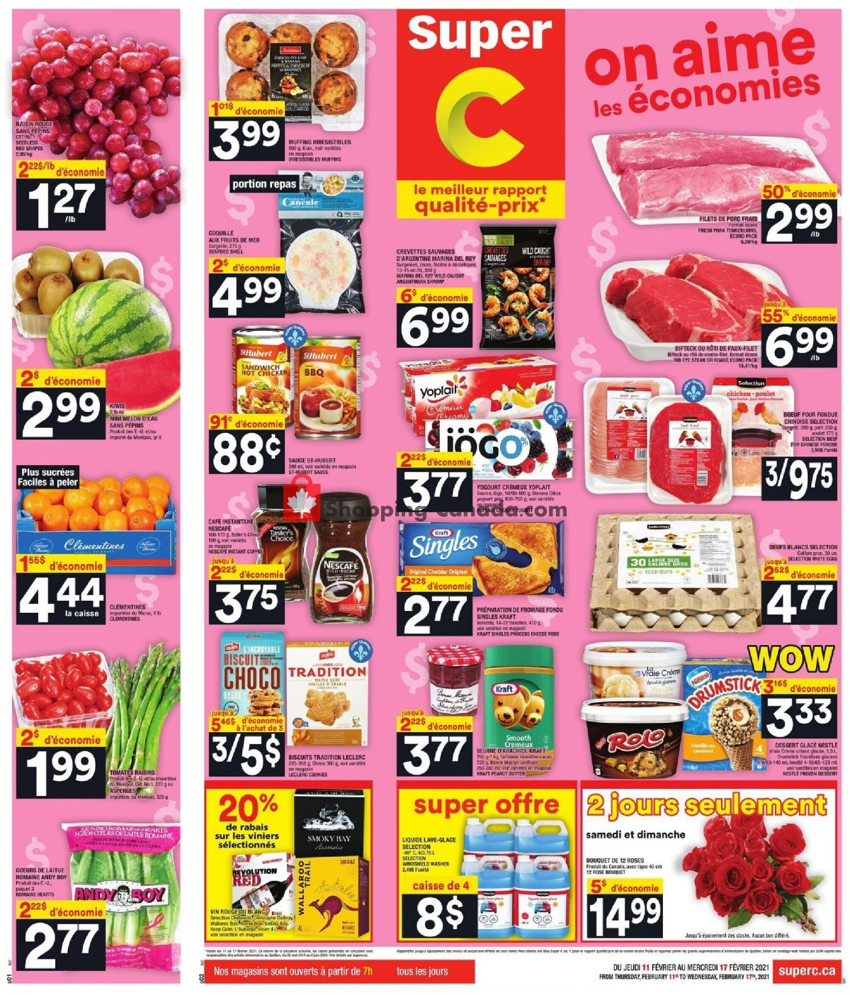 Flyer Super C Canada - from Thursday February 11, 2021 to Wednesday February 17, 2021