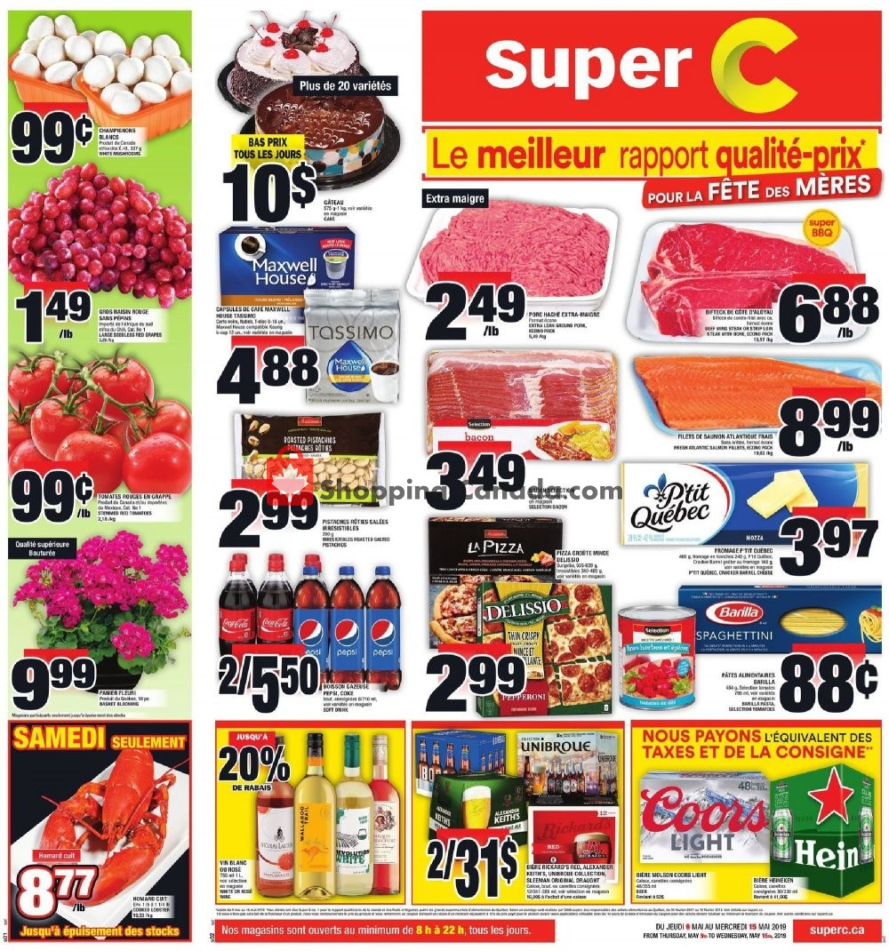 Flyer Super C Canada - from Thursday May 9, 2019 to Wednesday May 15, 2019