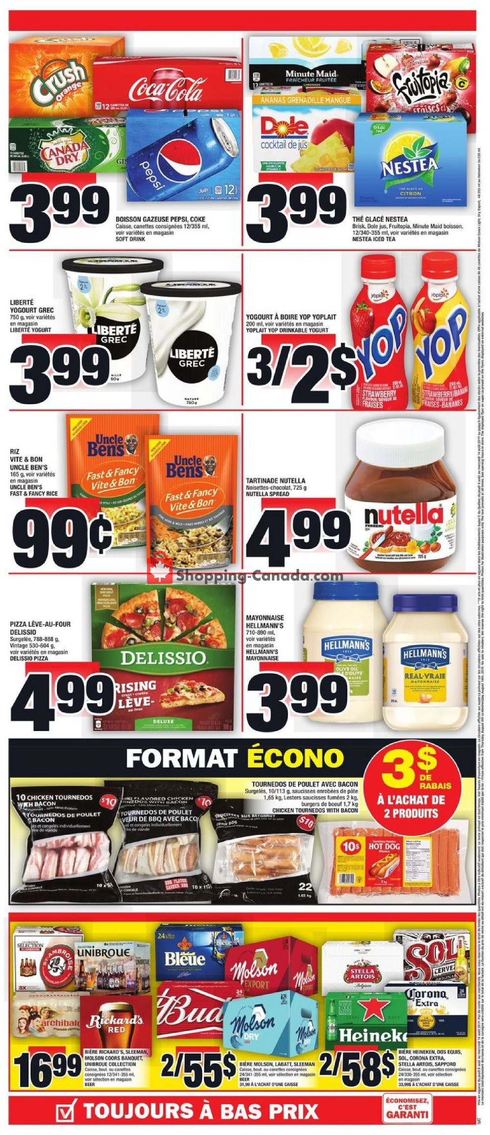 Flyer Super C Canada - from Thursday August 8, 2019 to Wednesday August 14, 2019