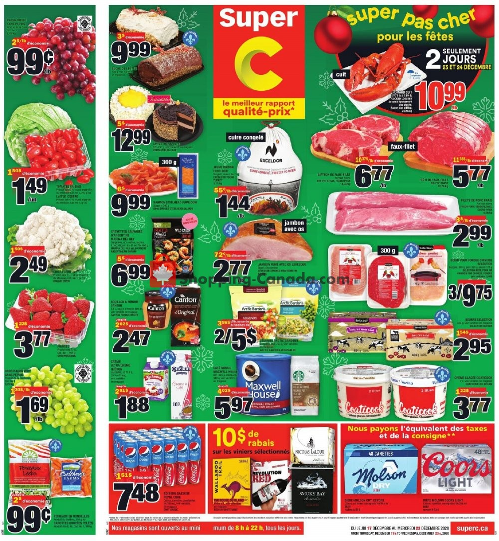 Flyer Super C Canada - from Thursday December 17, 2020 to Wednesday December 23, 2020