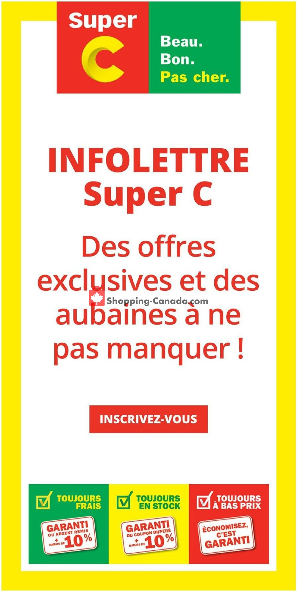 Flyer Super C Canada - from Thursday January 16, 2020 to Wednesday January 22, 2020