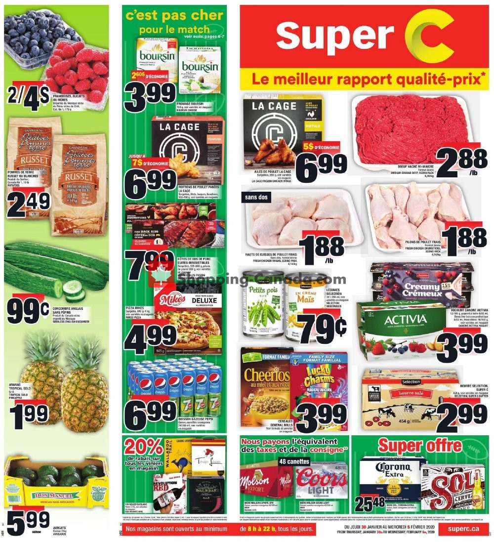 Flyer Super C Canada - from Thursday January 30, 2020 to Wednesday February 5, 2020