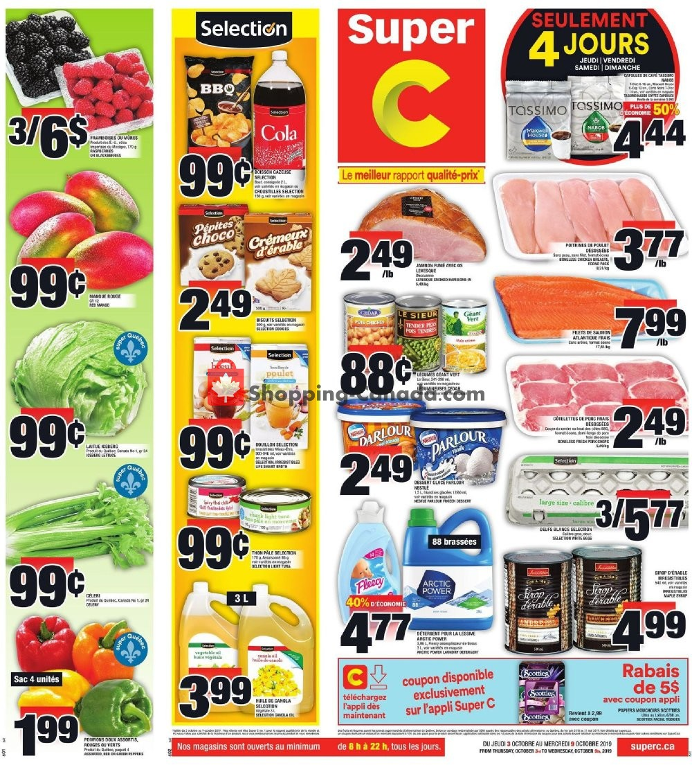 Flyer Super C Canada - from Thursday October 3, 2019 to Wednesday October 9, 2019