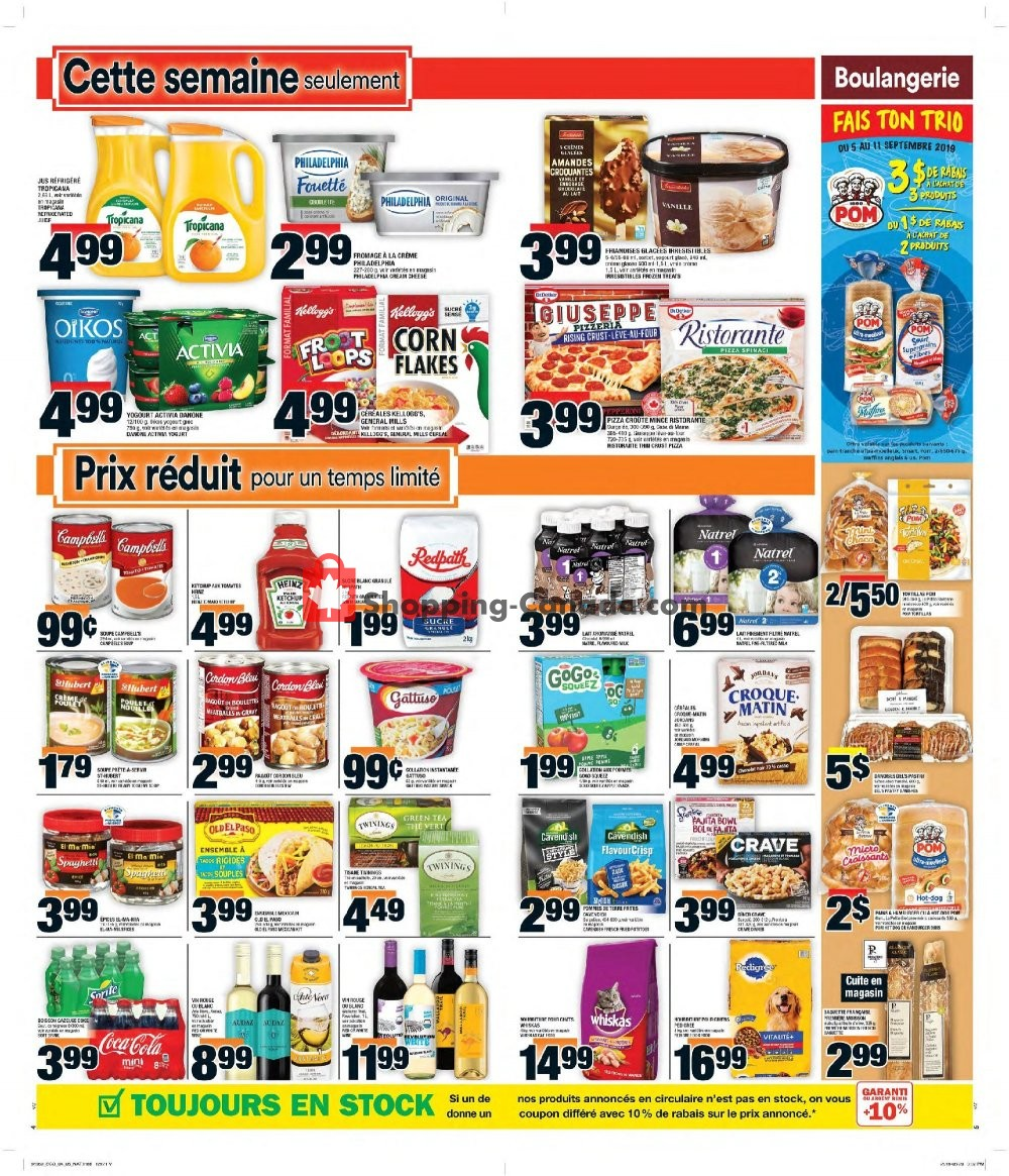 Flyer Super C Canada - from Thursday September 5, 2019 to Wednesday September 11, 2019