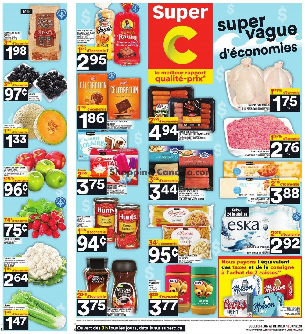 Flyer Super C Canada - from Thursday June 4, 2020 to Wednesday June 10, 2020