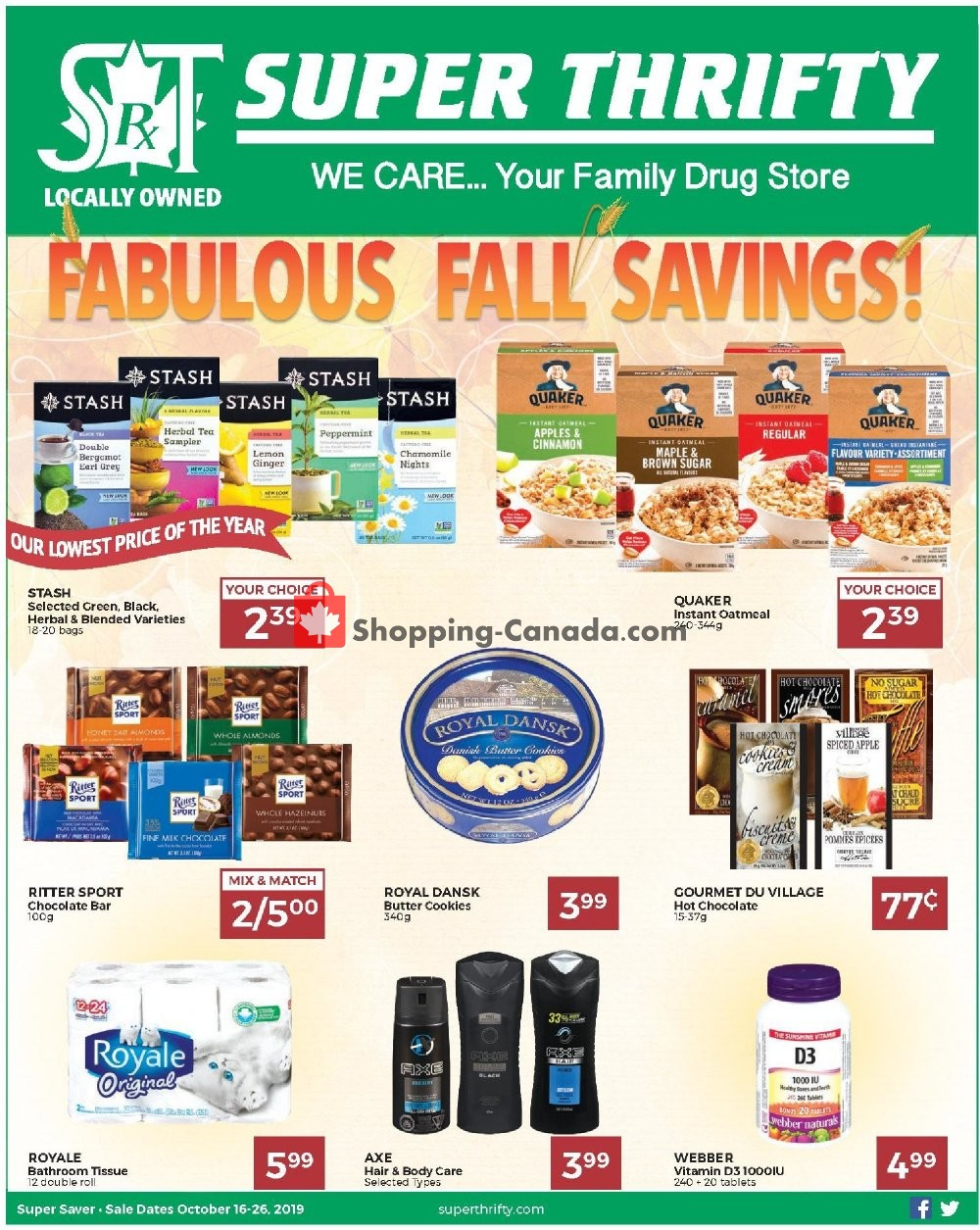 Flyer Super Thrifty Canada - from Wednesday October 16, 2019 to Saturday October 26, 2019