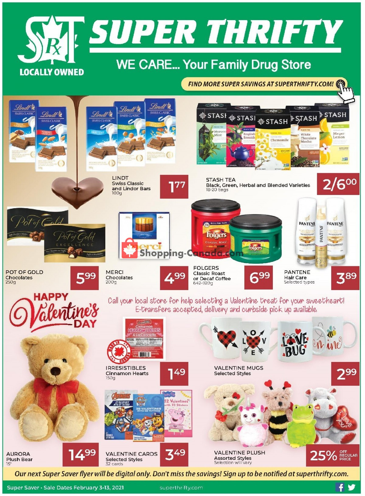 Flyer Super Thrifty Canada - from Wednesday February 3, 2021 to Saturday February 13, 2021