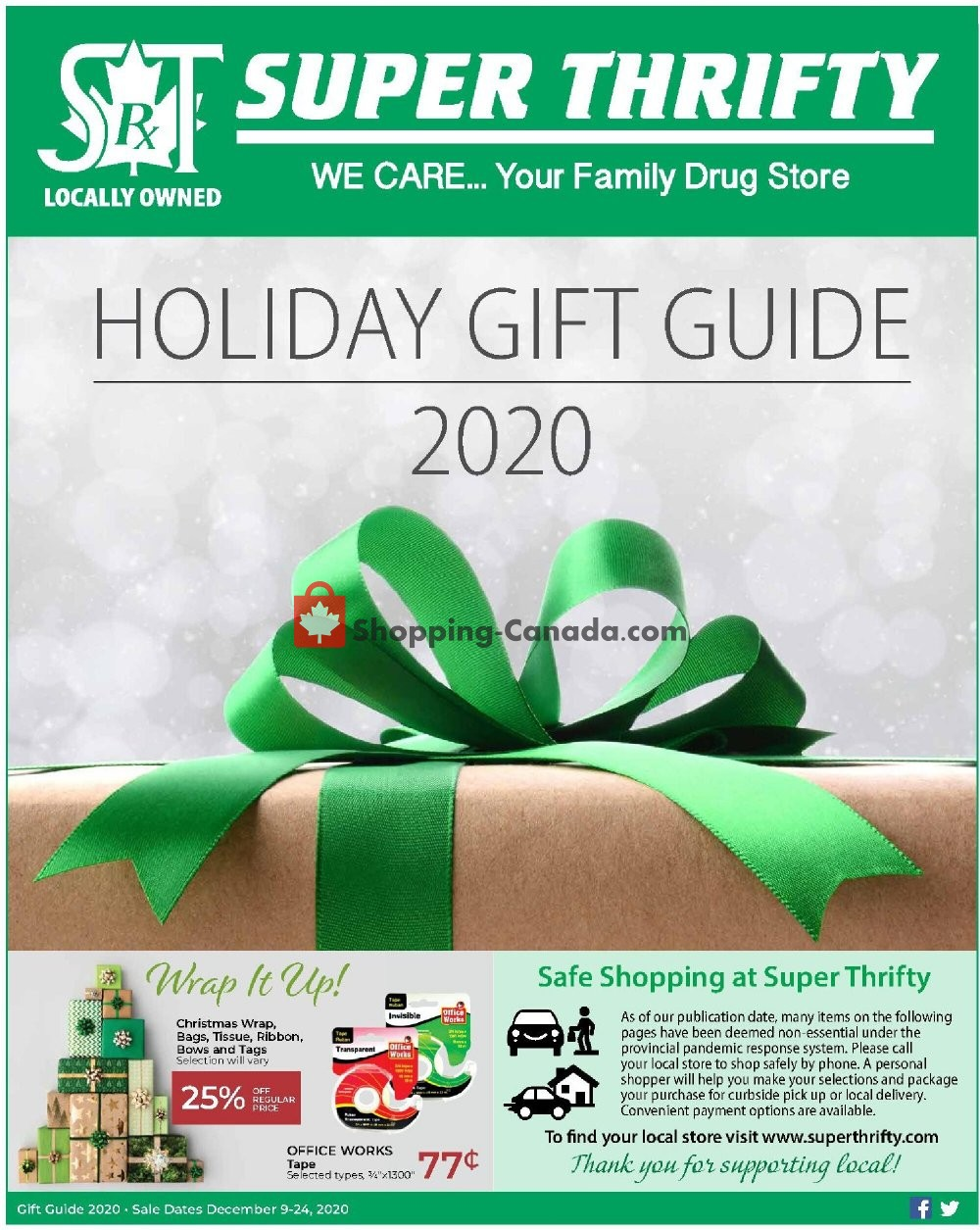 Flyer Super Thrifty Canada - from Wednesday December 9, 2020 to Thursday December 24, 2020