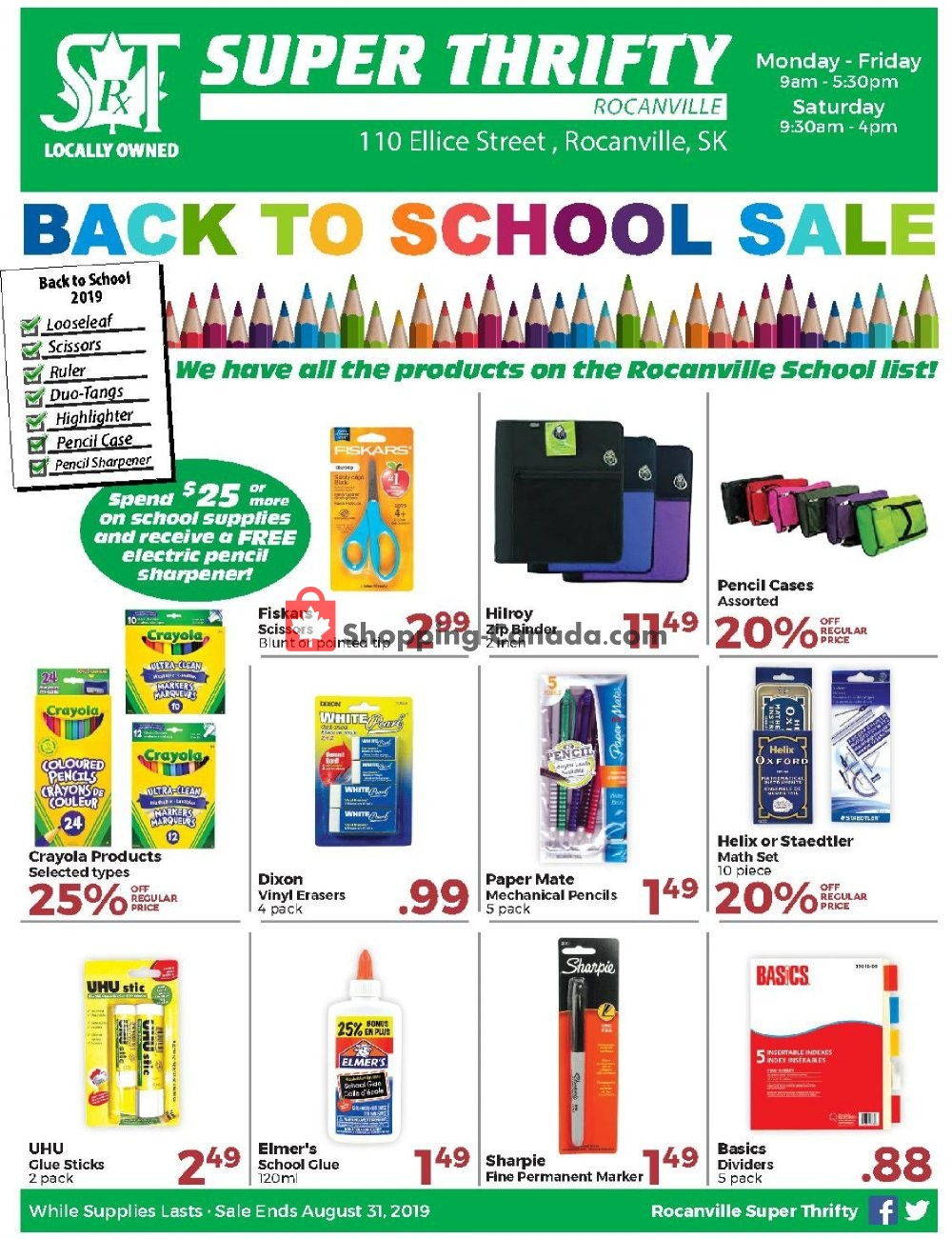 Flyer Super Thrifty Canada - from Wednesday July 31, 2019 to Saturday August 31, 2019