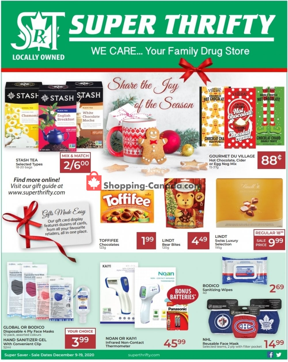 Flyer Super Thrifty Canada - from Wednesday December 9, 2020 to Saturday December 19, 2020