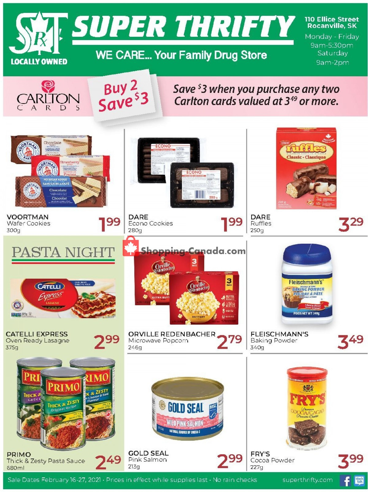 Flyer Super Thrifty Canada - from Tuesday February 16, 2021 to Saturday February 27, 2021