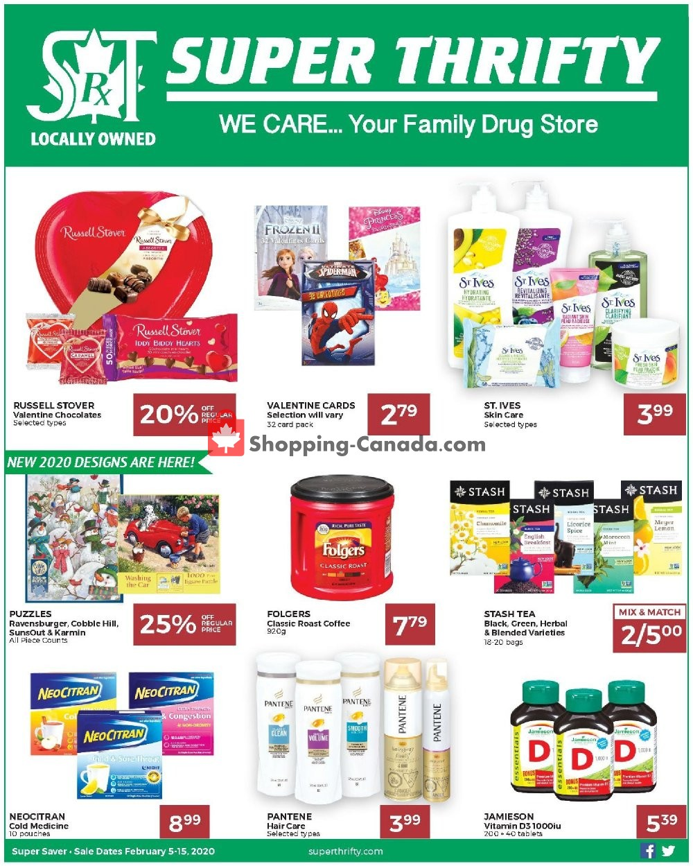 Flyer Super Thrifty Canada - from Wednesday February 5, 2020 to Saturday February 15, 2020