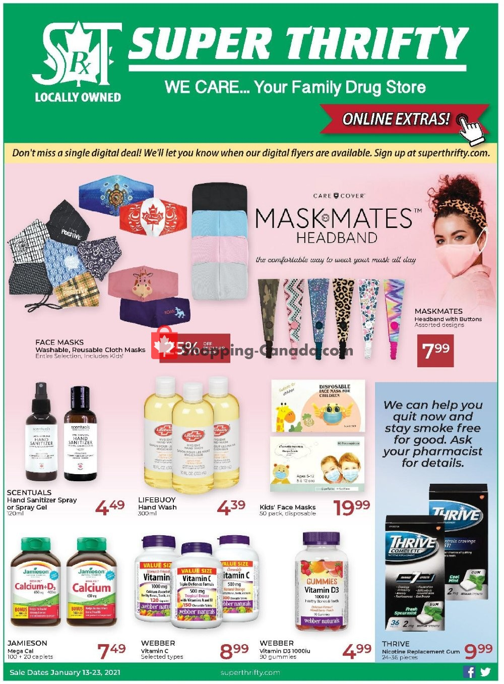 Flyer Super Thrifty Canada - from Wednesday January 13, 2021 to Saturday January 23, 2021