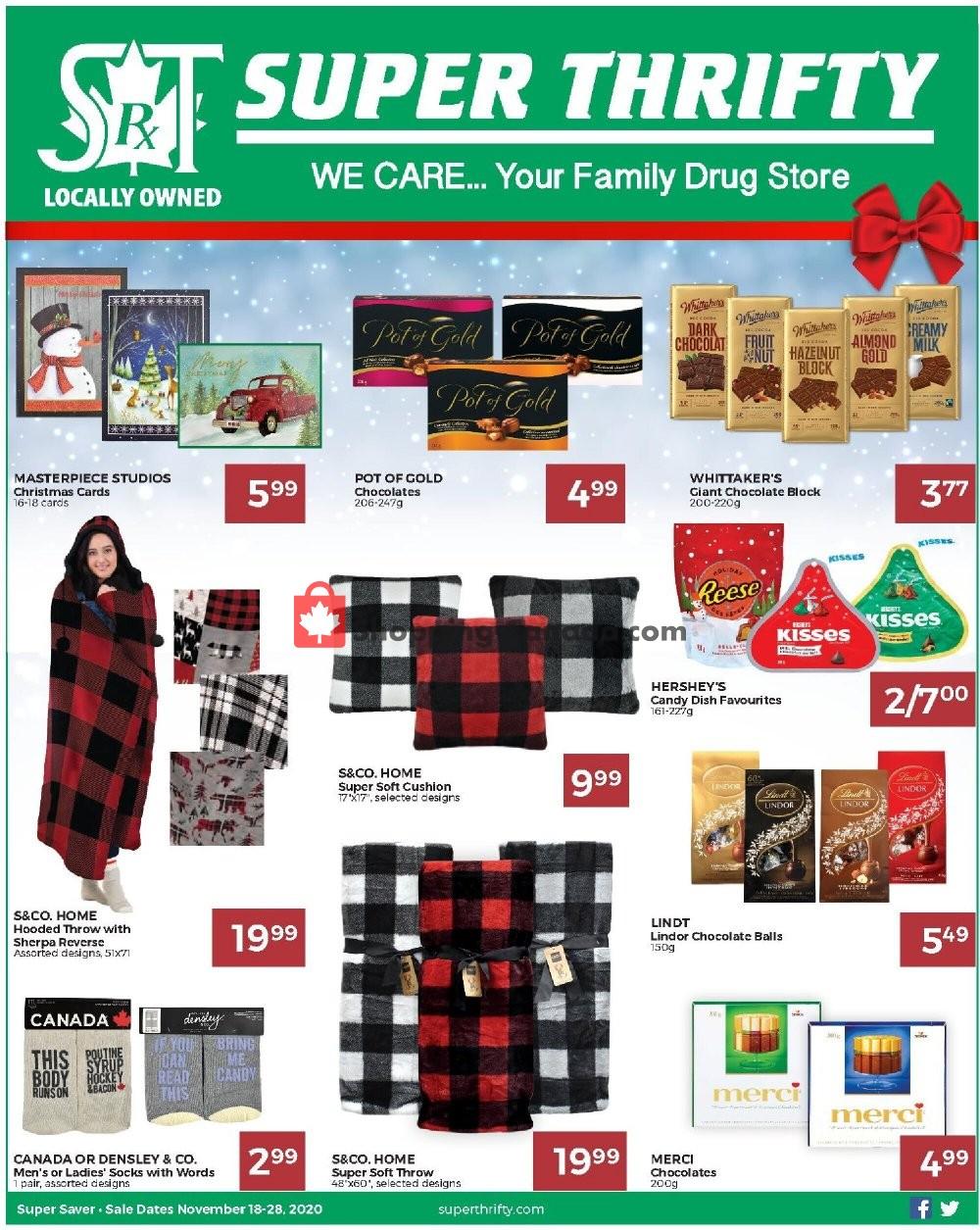 Flyer Super Thrifty Canada - from Wednesday November 18, 2020 to Saturday November 28, 2020