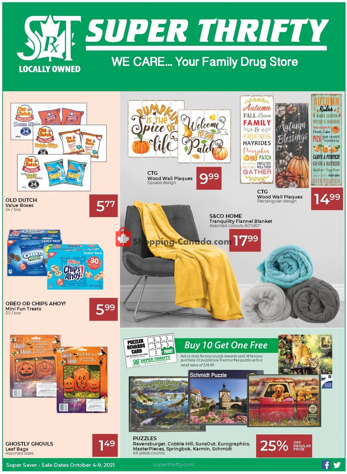 Flyer Super Thrifty Canada - from Monday October 4, 2021 to Saturday October 9, 2021