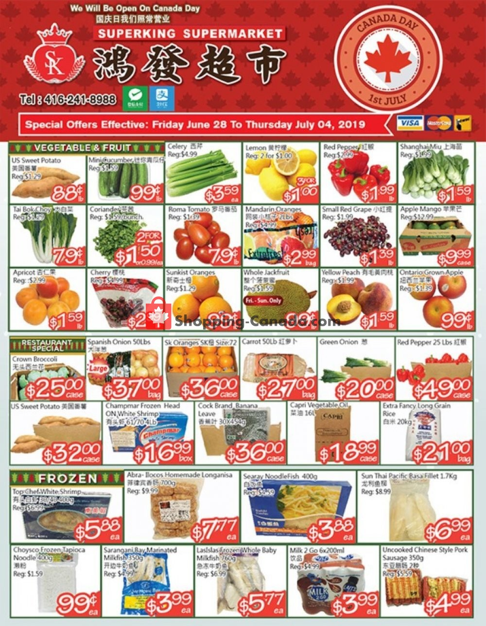 Flyer SuperKing Super Market Canada - from Friday June 28, 2019 to Thursday July 4, 2019