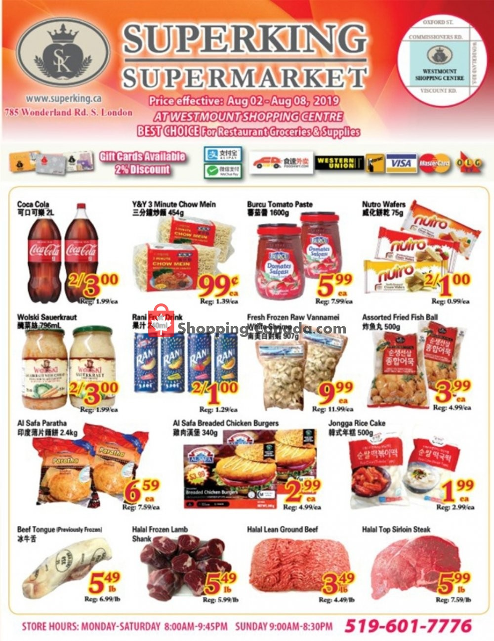 Flyer SuperKing Super Market Canada - from Friday August 2, 2019 to Thursday August 8, 2019