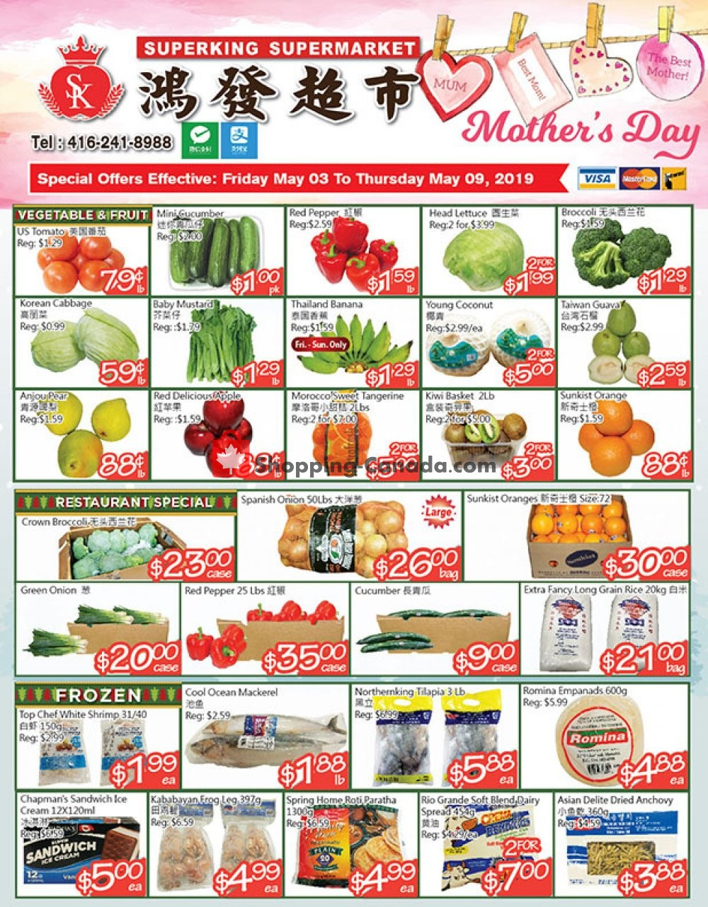 Flyer SuperKing Super Market Canada - from Friday May 3, 2019 to Thursday May 9, 2019
