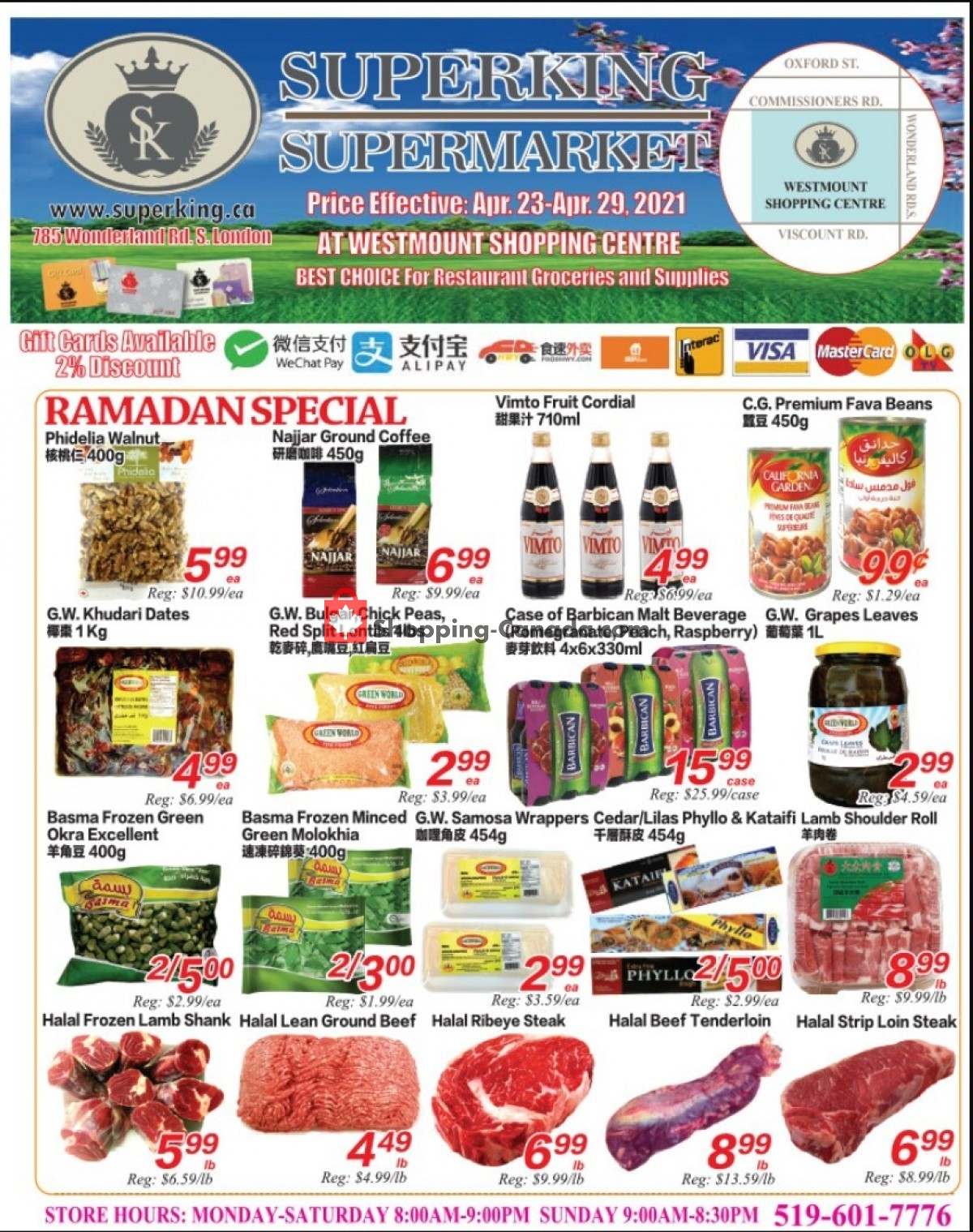 Flyer SuperKing Super Market Canada - from Friday April 23, 2021 to Thursday April 29, 2021
