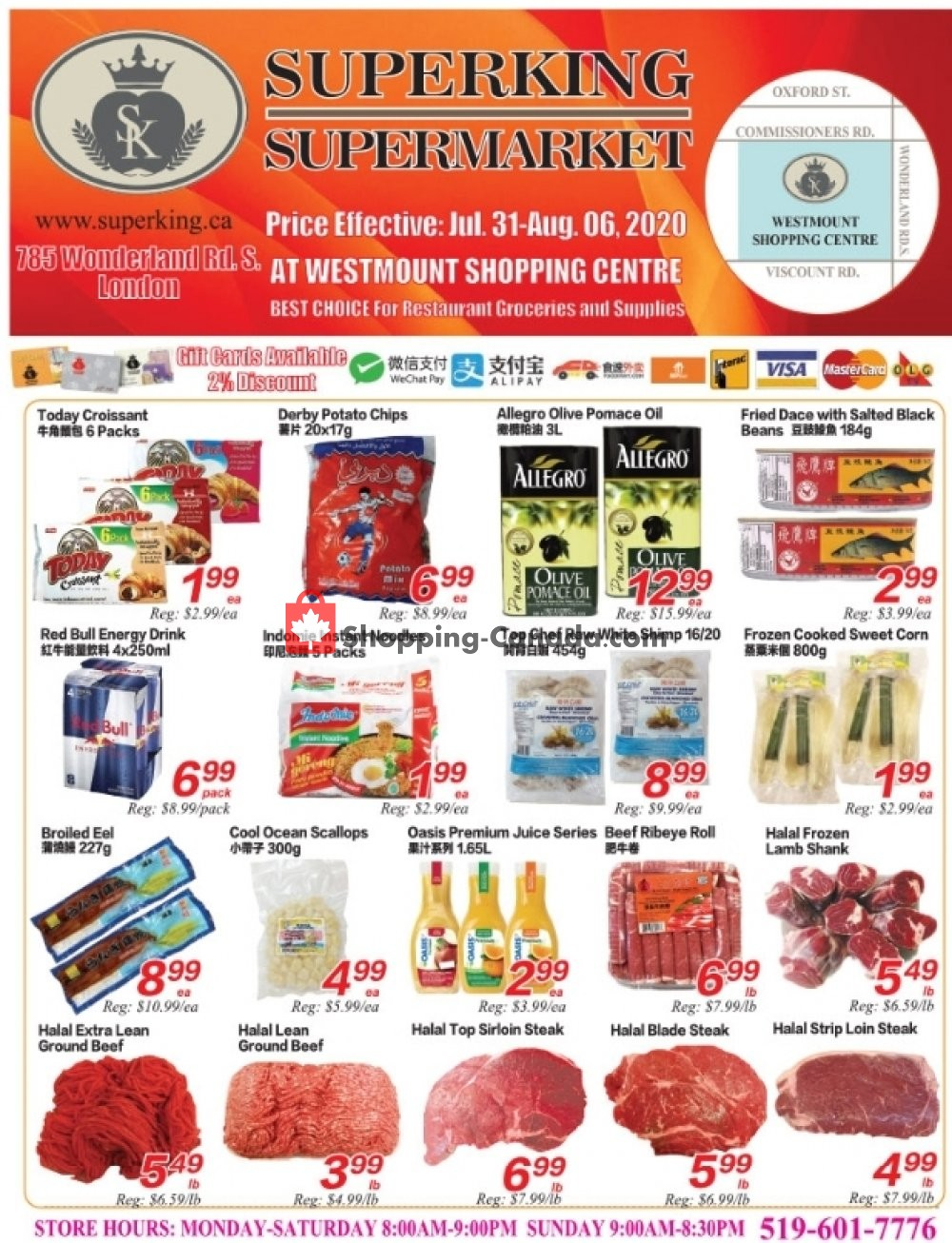 Flyer SuperKing Super Market Canada - from Friday July 31, 2020 to Thursday August 6, 2020