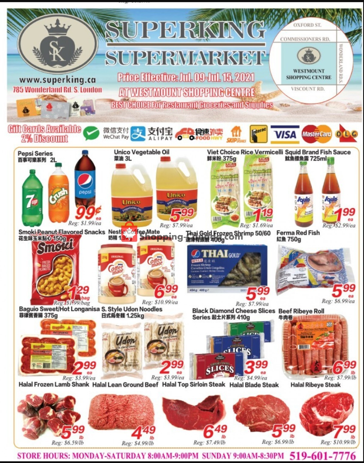 Flyer SuperKing Super Market Canada - from Friday July 9, 2021 to Thursday July 15, 2021