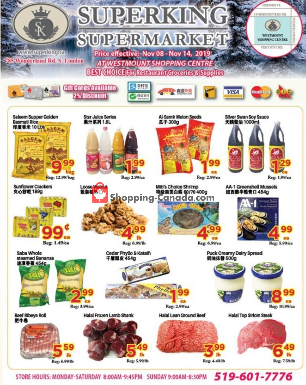 Flyer SuperKing Super Market Canada - from Friday November 8, 2019 to Thursday November 14, 2019