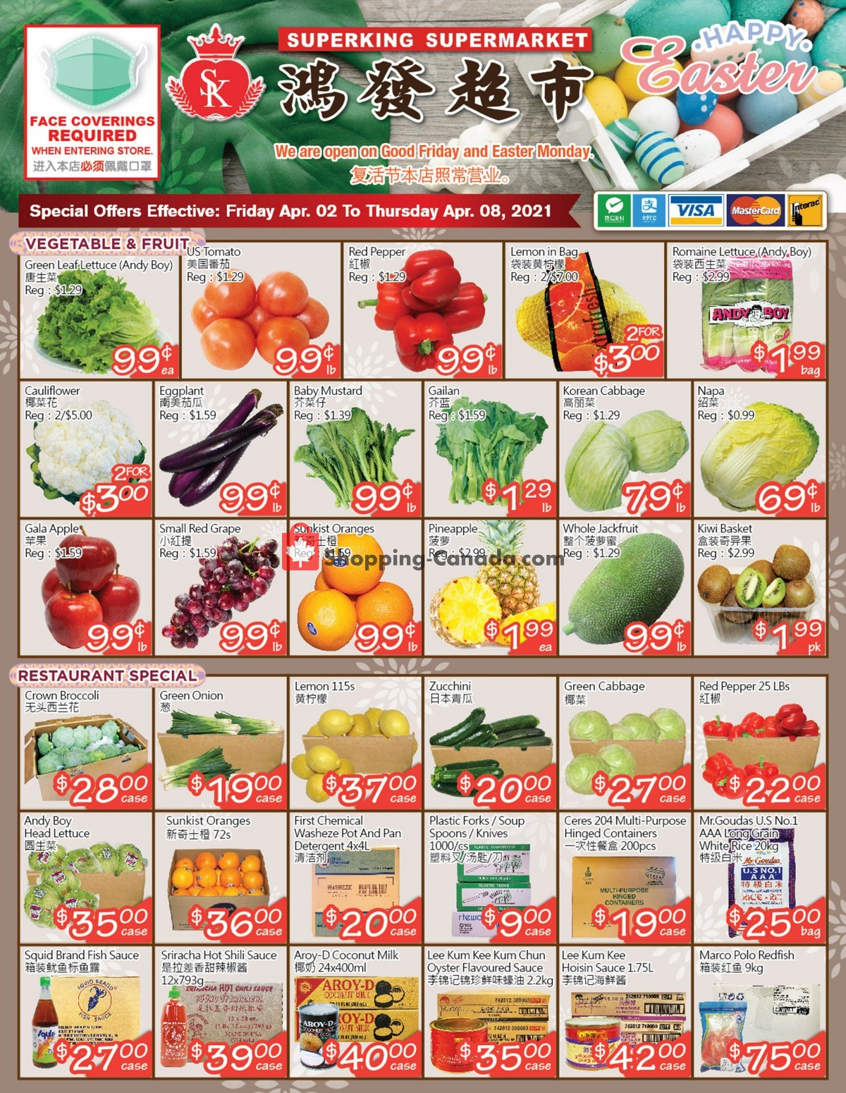 Flyer SuperKing Super Market Canada - from Friday April 2, 2021 to Thursday April 8, 2021