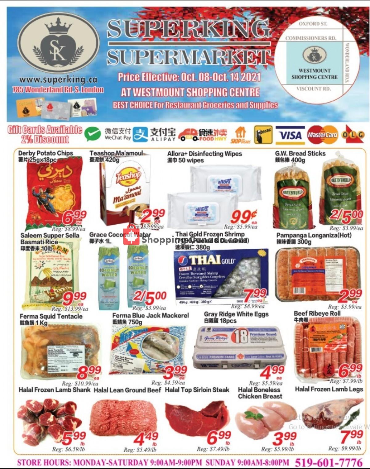 Flyer SuperKing Super Market Canada - from Friday October 8, 2021 to Thursday October 14, 2021