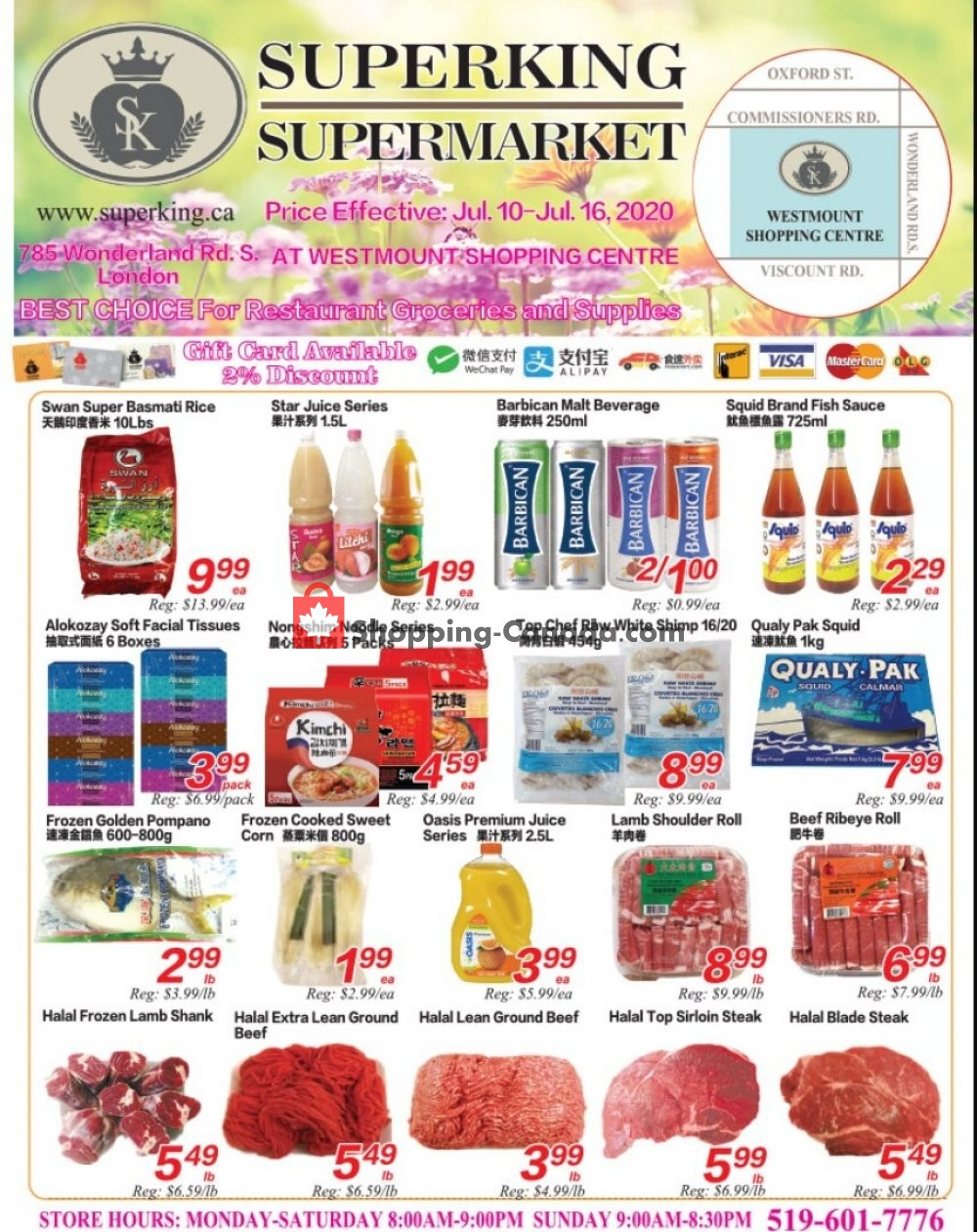 Flyer SuperKing Super Market Canada - from Friday July 10, 2020 to Thursday July 16, 2020