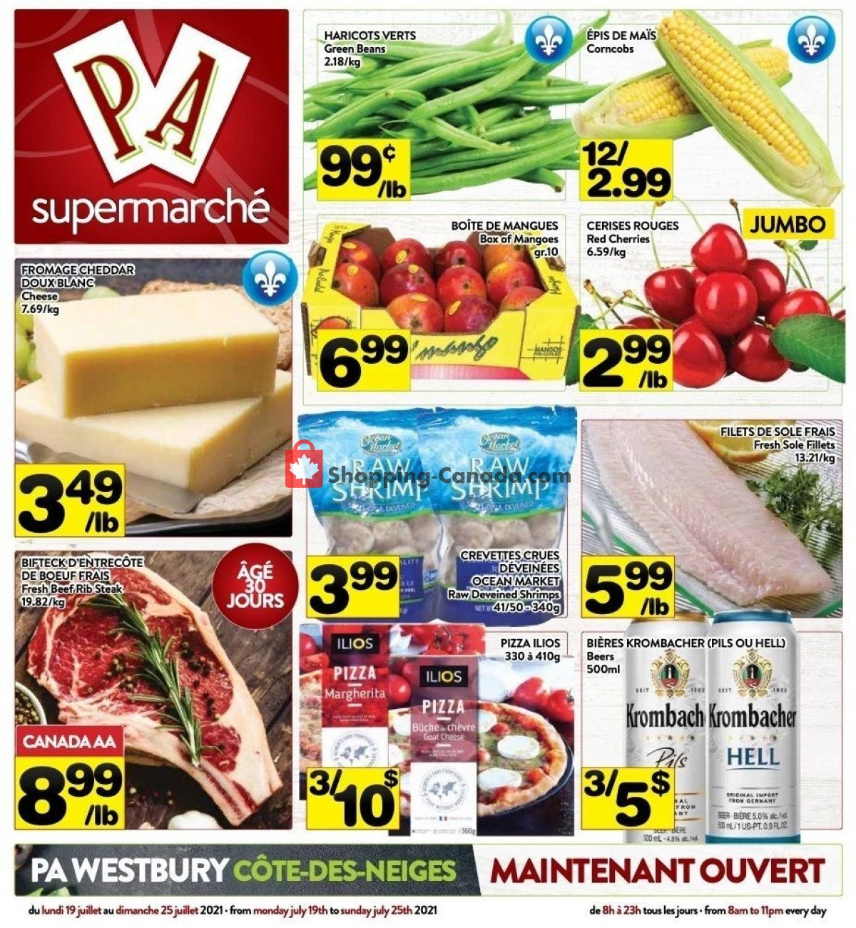 Flyer Supermarché PA Canada - from Monday July 19, 2021 to Sunday July 25, 2021
