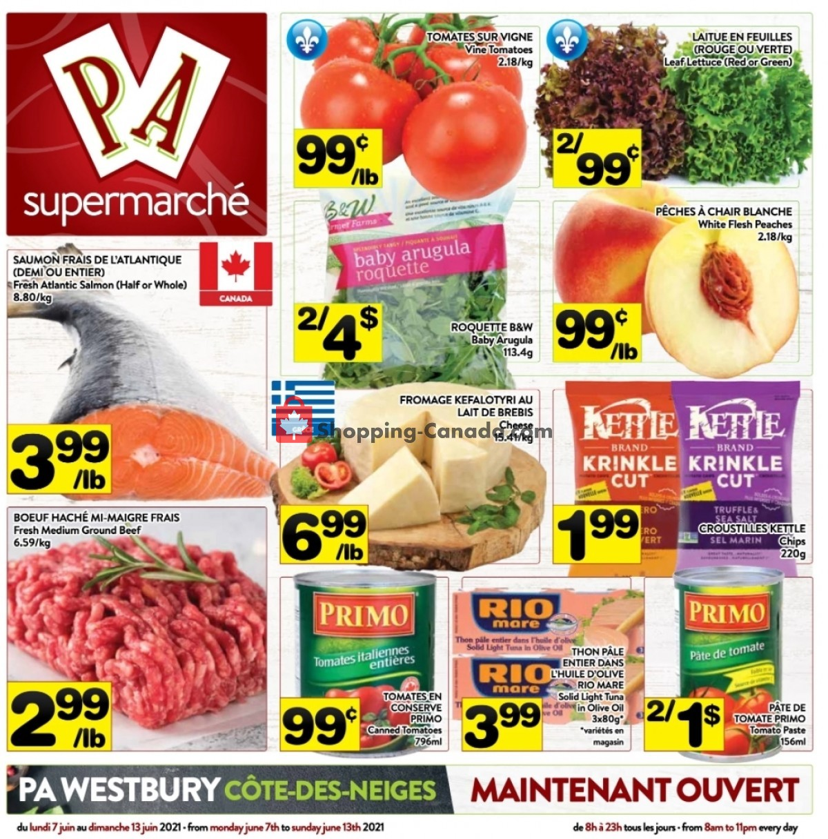 Flyer Supermarché PA Canada - from Monday June 7, 2021 to Sunday June 13, 2021