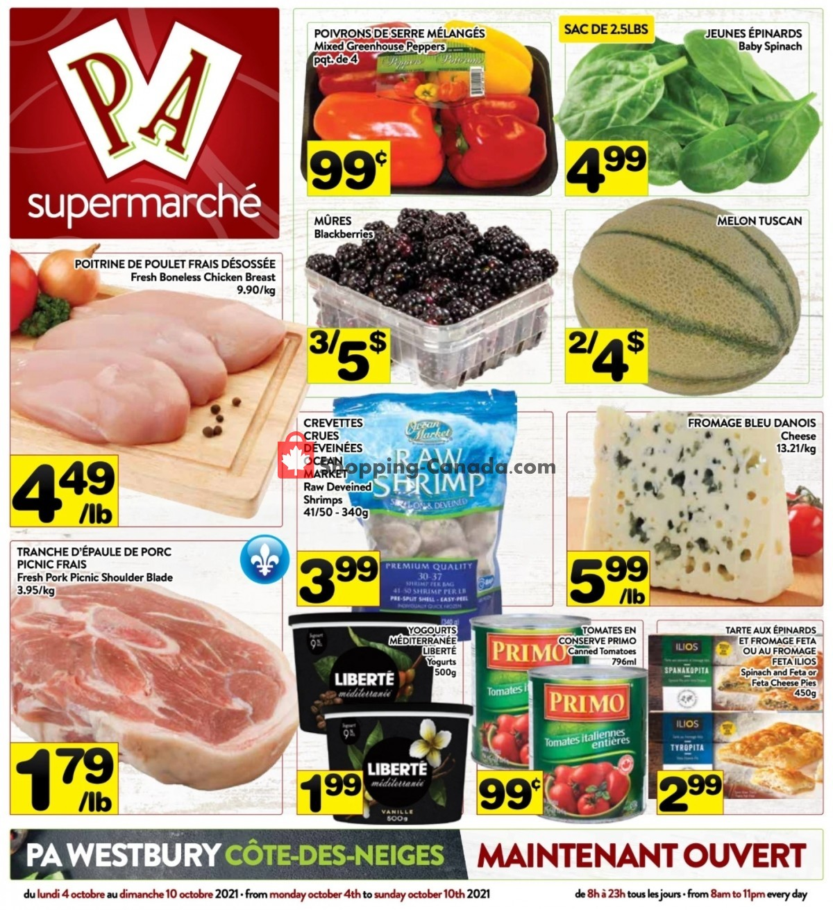 Flyer Supermarché PA Canada - from Monday October 4, 2021 to Sunday October 10, 2021