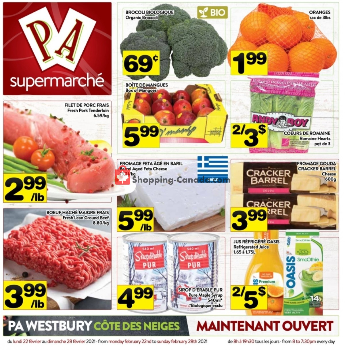 Flyer Supermarché PA Canada - from Monday February 22, 2021 to Sunday February 28, 2021