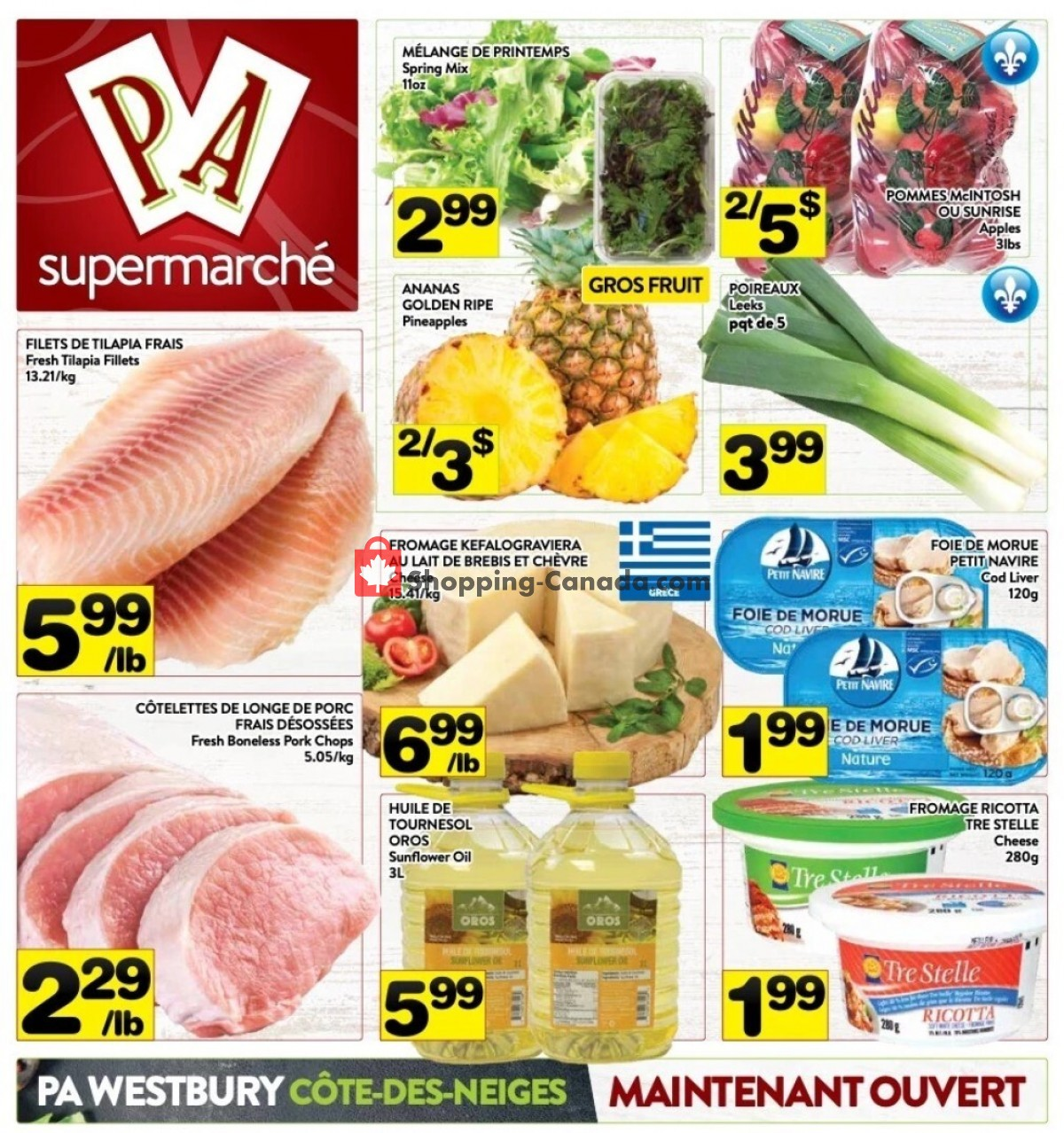 Flyer Supermarché PA Canada - from Monday October 11, 2021 to Sunday October 17, 2021