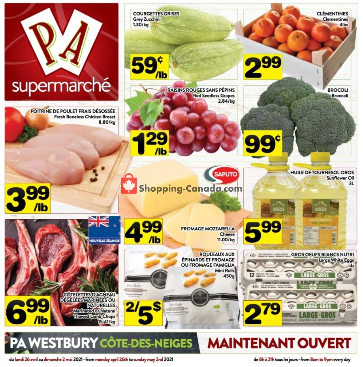 Flyer Supermarché PA Canada - from Monday April 26, 2021 to Sunday May 2, 2021