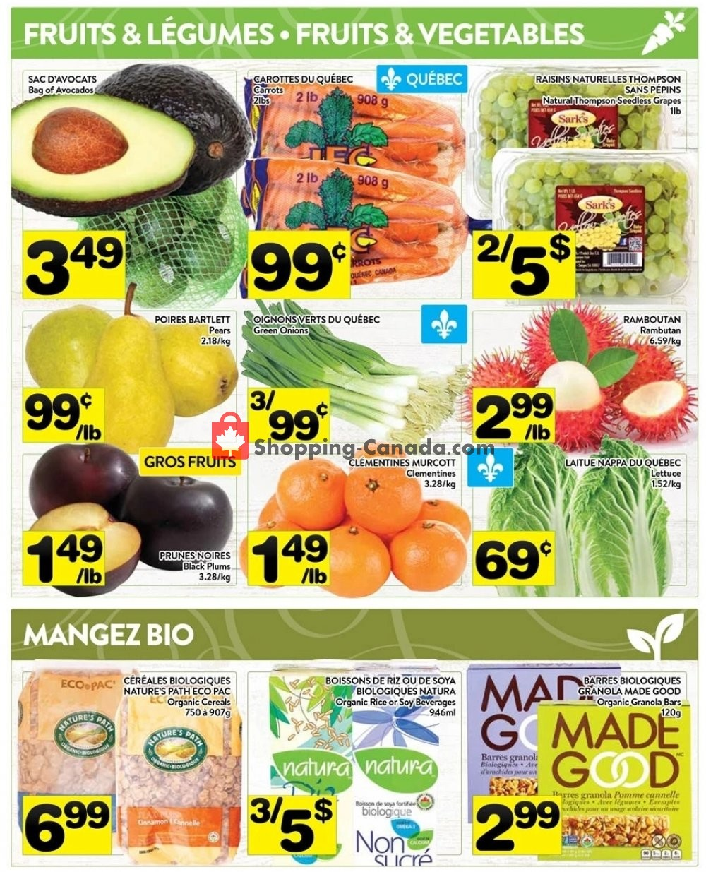 Flyer Supermarché PA Canada - from Monday August 12, 2019 to Sunday August 18, 2019