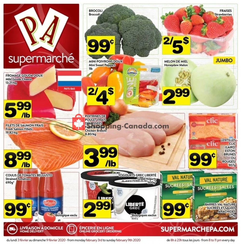 Flyer Supermarché PA Canada - from Monday February 3, 2020 to Sunday February 9, 2020