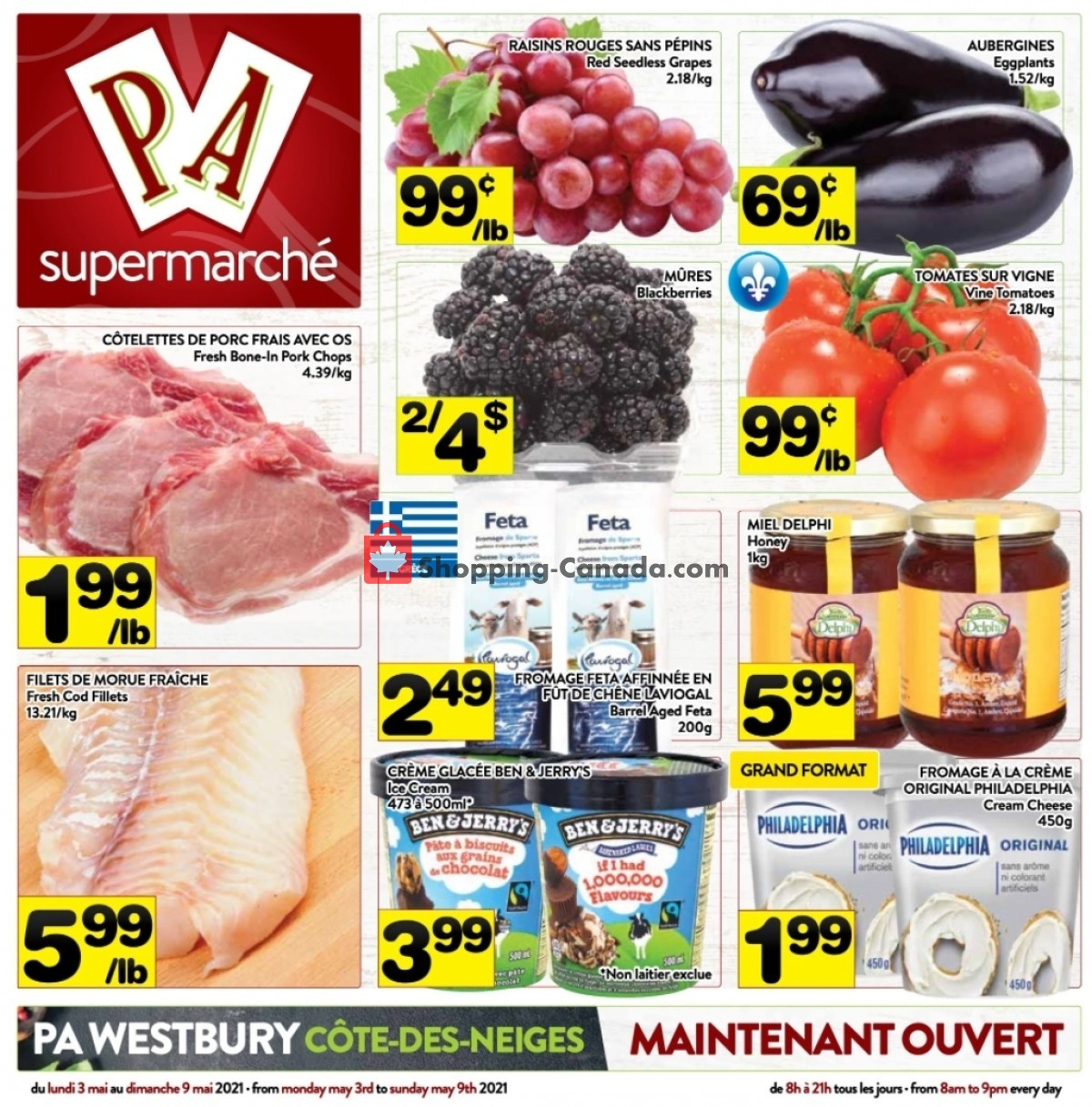 Flyer Supermarché PA Canada - from Monday May 3, 2021 to Sunday May 9, 2021