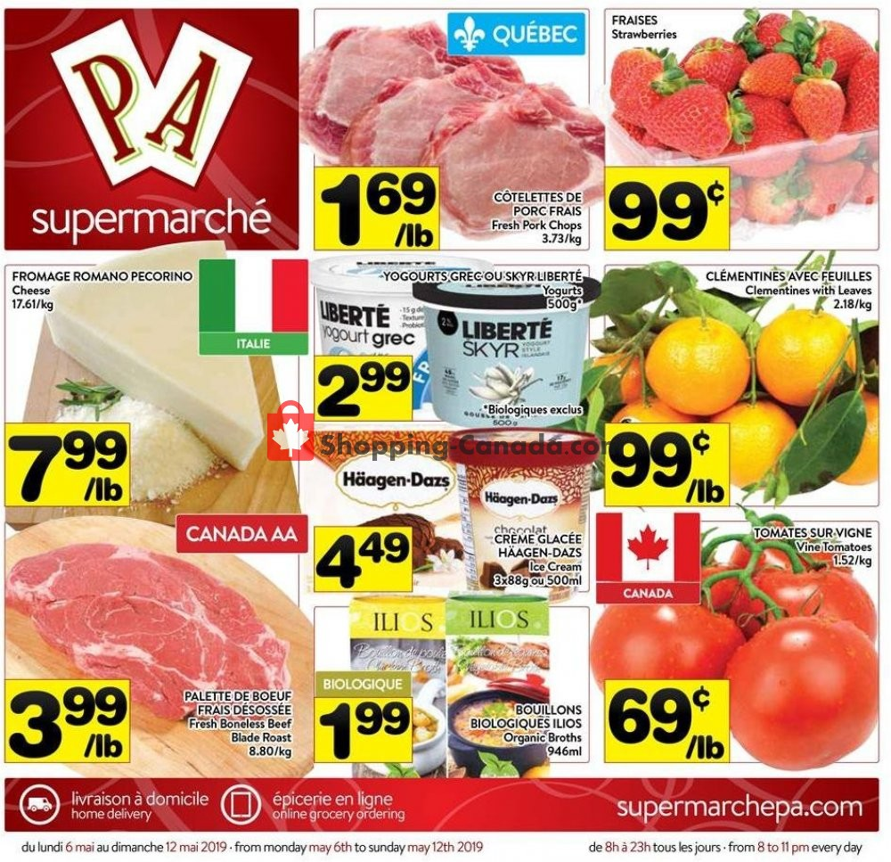 Flyer Supermarché PA Canada - from Monday May 6, 2019 to Sunday May 12, 2019