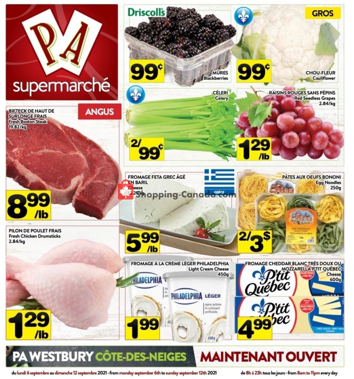 Flyer Supermarché PA Canada - from Monday September 6, 2021 to Sunday September 12, 2021
