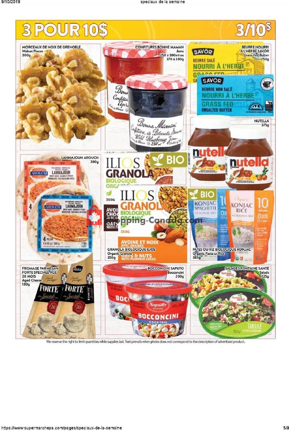 Flyer Supermarché PA Canada - from Monday September 9, 2019 to Sunday September 15, 2019