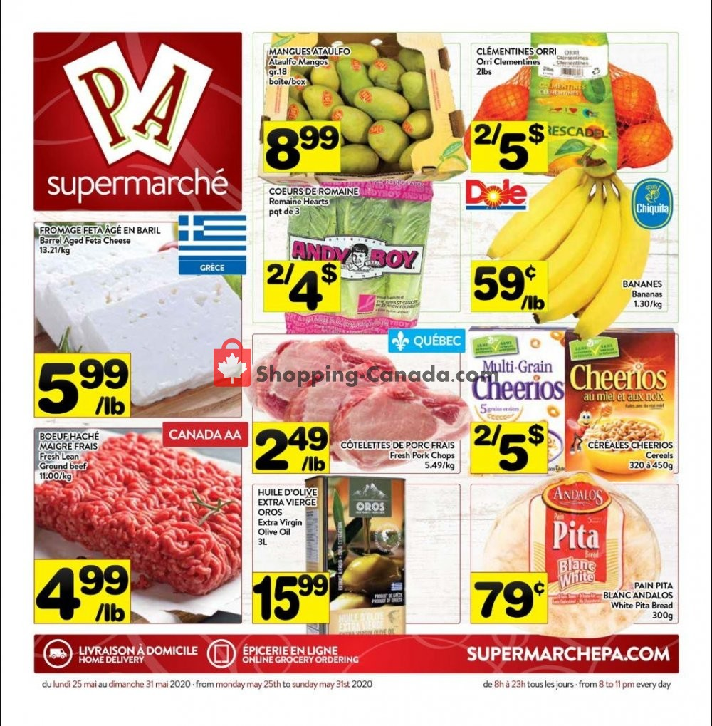 Flyer Supermarché PA Canada - from Monday May 25, 2020 to Sunday May 31, 2020