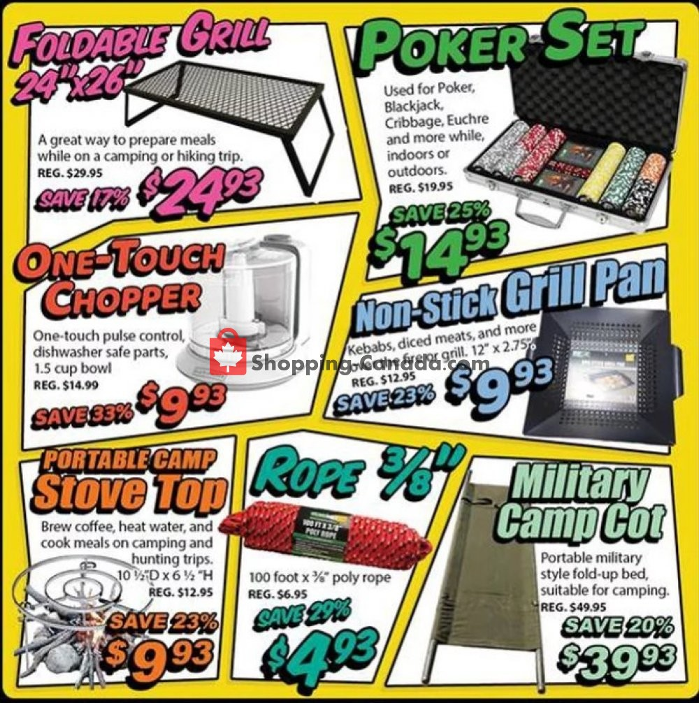 Flyer Surplus Herby's Canada - from Thursday July 18, 2019 to Sunday July 21, 2019
